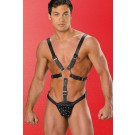 Leather Harness Studded Pouch 28-200