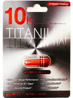 10K Titanium Stronger Formula Male Enhancement Red Pill