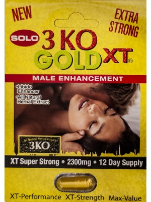3 KO Solo Gold XT Super Strong Male Libido Enhancer Pill 2300 mg
