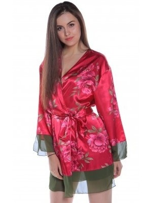 Floral Print Charmeuse 489C Red Floral