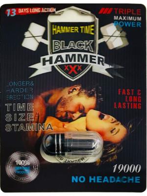 Black Hammer 19000 Triple Maximum Power Male Enhancer Black Pill