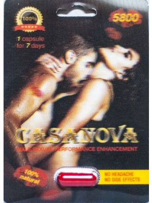 Casanova 5800 Male Performance Ehnancement Pill Up To 7 Days