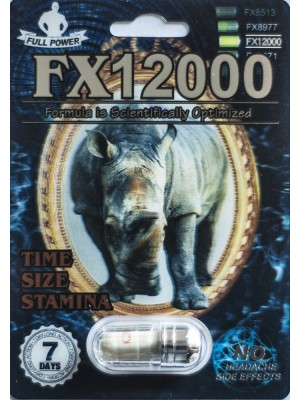FX12000 Full Power Sexual Enhancer Pill 1 Capsule 7 Days