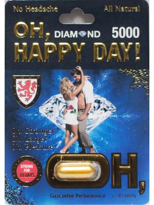 Oh Happy Day Diamond 5000 10 Days For Men Natural Libido Enhancer 1 Capsule