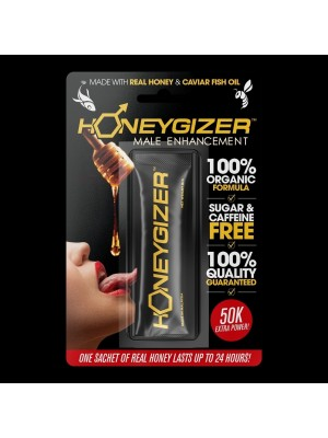 Honeygizer Sachets Real Honey Caviar Fish Oil Male Enhancer