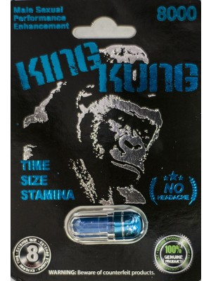 King Kung 8000 Male Sexual Performance Enhancement Pill-Blue