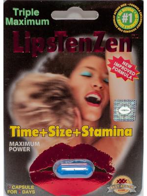 LipsTenZen 2250mg/pwr Triple Maximum Genuine Natural Enahncement for Men 1 Pill