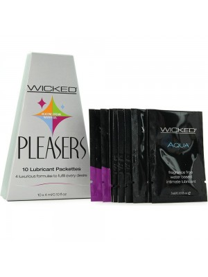 Wicked Pleasers 10 Lubricant Packettes .10 fl. oz Each