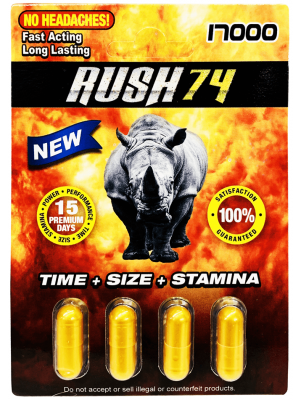 Rush 74 Gold 4 Pills Pack 17000 Male Enhancement Pill