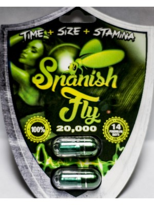 Spanish Fly 20,000 Green Pill Male Enhancement 2 Pack
