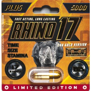 Rhino 17 Plus 5000 Gold Pill Male Enhancement