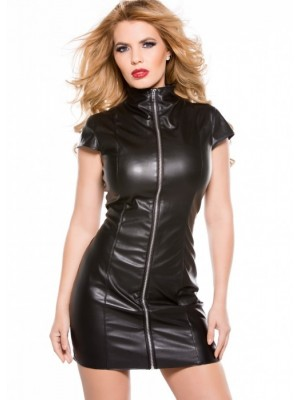 Faux Leather Dress 17-2005