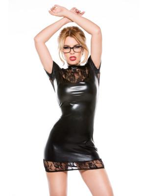 Lace Wet Look Dress Kitten-Boxed 17-6502K