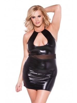 Wet Look Dress Kitten Plus 17-7602XK