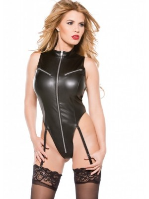 Faux Leather Teddy 4-2005