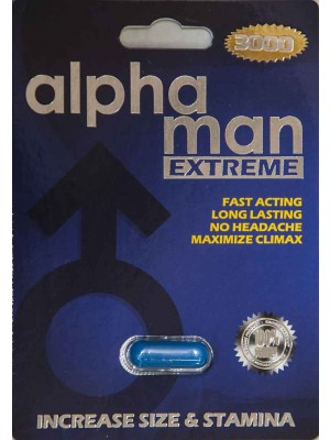 Alpha Man Extreme 3000 Male Sexual Enhancement 7 Days by U & A Nature