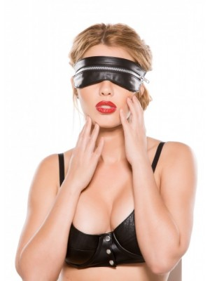 Faux Leather Zip Mask BF-2005
