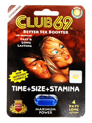 Club 69 Better Sex Booster 1250mg 4 Days Long Action for Men Sex Pill by SX Power Co