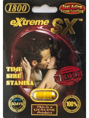 SX Extreme 5 Days Male Sexual Performance Enhancement Pills 1800mg