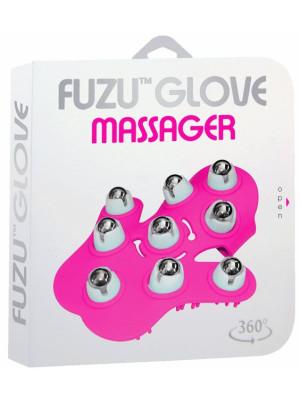 Fuzu Glove Massager Pink 360 Rotating roller balls