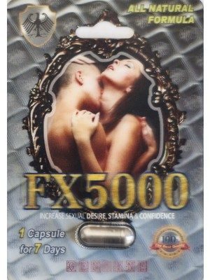 FX5000 Increase Sexual Desire Stamina & Confidence Pill 1 Capsule 7 Days