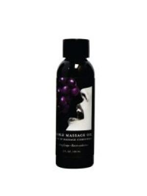 Massage Oil Grape Edible 2 oz