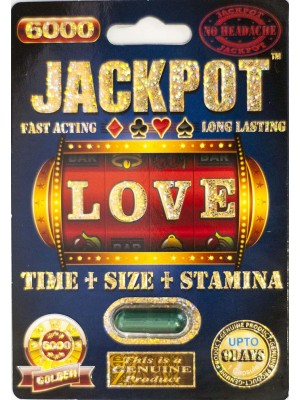 Jackpot 6000 Genuine Male Sexual Enhancer Pill-1 (No Headache)
