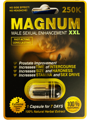 Magnum Black 250K XXL Male Sexual Enhancement Herbal Pill