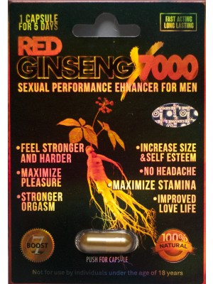 Red Ginseng X 7000 Sexual Performance Enhancer For Men 1 Pill 5 Days