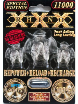 Rhino XXX 11000 Genuine Male Sexual Enhancer 1 Black Pill