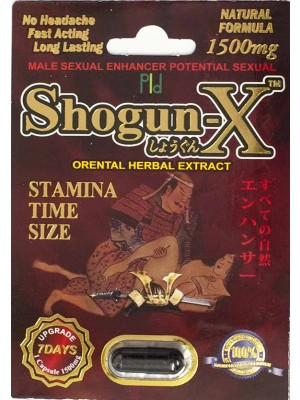 Shogun X 1500mg Male Sexual Enhancer Natural Formula