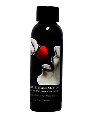Massage Oil Strawberry Edible 2 oz