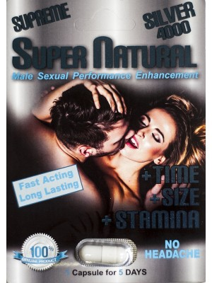 Supreme Silver 4000 Super Natural Male Sexual Performance Enhancement Pill