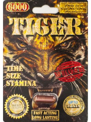 Tiger 6000 Genuine Male Sexual Enhancer Pill-1 (No Headache)