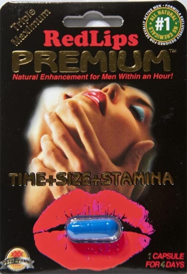 Red Lips Premium 1250mg  Triple Maximum Genuine Natural Enhancement for Men 1 Pill