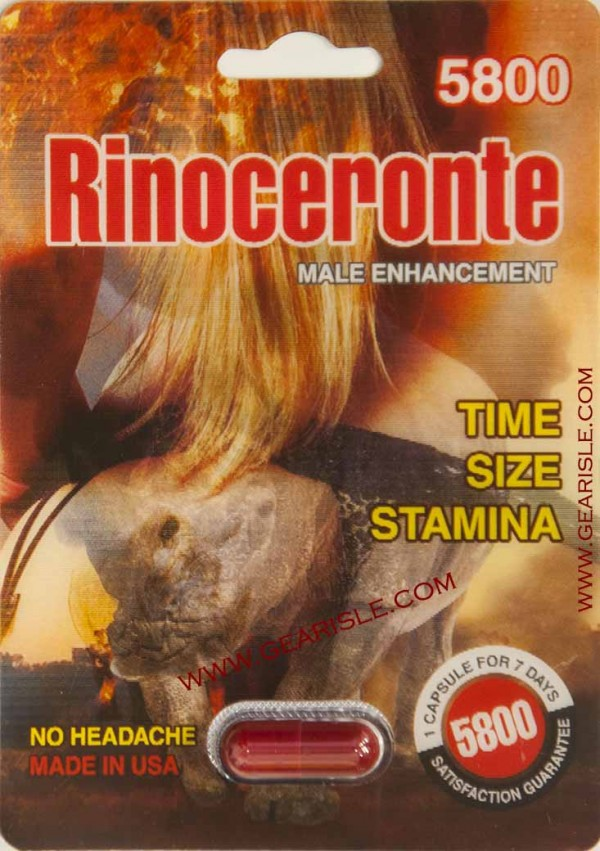 Rinoceronte 5800 Male Enhancement Pill Time Size Stamina 7 Days