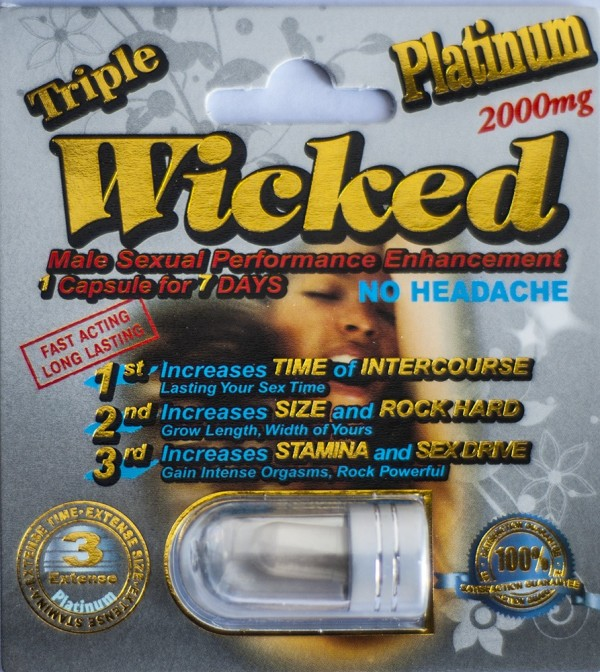 Wicked Platinum 2000mg Triple Maximum Sexual Enhancement Pill