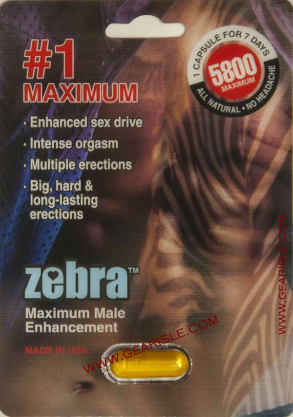 Zebra 5800 Maximum Male Enhancement Pill Up To 7 Days Effects
