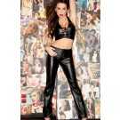 Low Rise Boot Cut Leather Pants 16-300