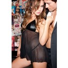 Leather Mesh Babydoll 17-400