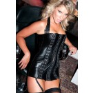 Leather Hook Eye Corset Dress 17-415