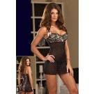 Beautiful baby doll with animal print side panelling instead of bedazzling 2360 Lingerie