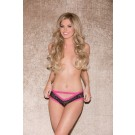 Glitter 30005 Lace Trimmed Panty Fuchia-Animal Lingerie
