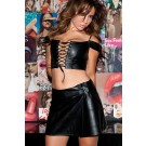 Leather Peasant Girl Bustier 5-705