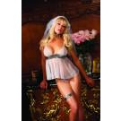 4 Piece Dazzling Bride Sheer Mini Dress Be Wicekd BW1182