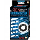 Erection Rings Clear Super Stretchy Pack of 10 My Ten