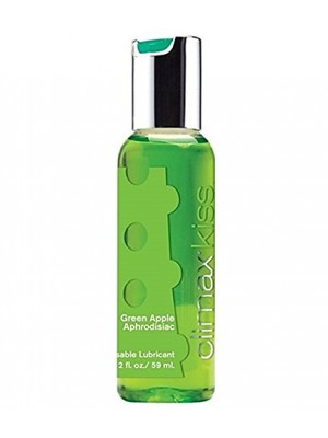 Climax Kiss Green Apple Aphrodisiac Kissable Lubricant 2 Oz Bottle