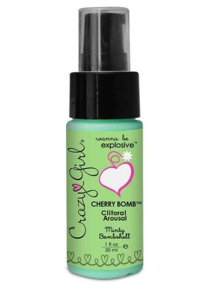 Crazy Girl Cherry Bomb Clitoral Arousal Minty Bombshell 1 oz
