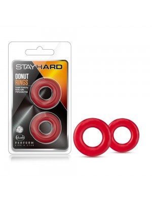 Blush Novelties Stay Hard Donut Rings Oversize Red