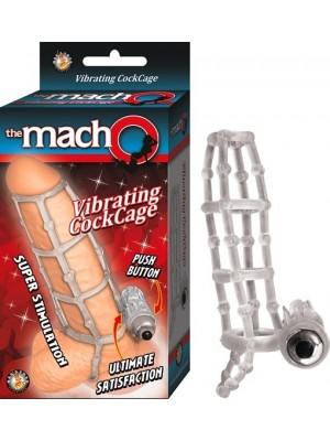 Cock Cage Clear Vibrating The macho